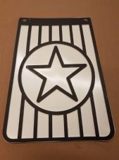 KEN COBBIN  STAR MUDFLAP  - WHITE AND BLACK